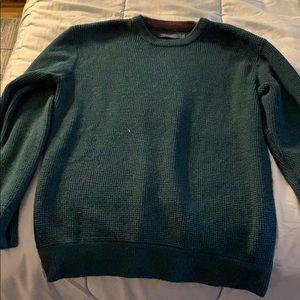 Men's thermal knit crewneck sweater (L)